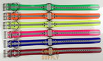 "19"" Day-Glo Dog Collar with D-Ring & Center Ring- 1.5""Wide 1.5-Wide-Collar"
