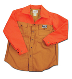 Dan's Brown and Orange Duck Shirt 134-OR