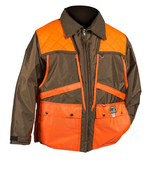 Dan's Briar Game Coat in Brown with Orange Trim 423-BROR