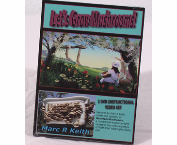 Let's Grow Mushrooms! by Marc R Keith 2 DVD Set #9510