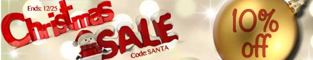 Christmas Sale 10% Off Any Order!!