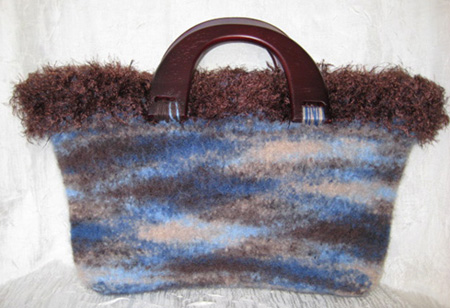 Abstract Felted Tote #TF3103