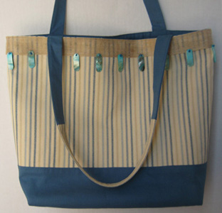 Blue Striped Tote TO3103