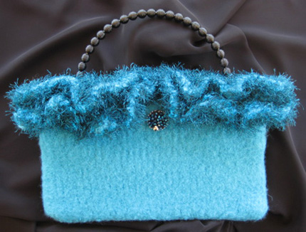 Blue Felted Tote TF3102