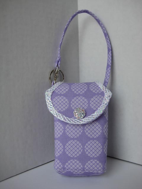 Circles-On-Purple Cell Phone Purse CP4101