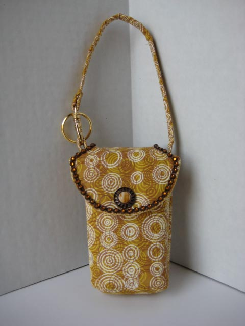 Circles-On-Yellow Cell Phone Purse #CP4100