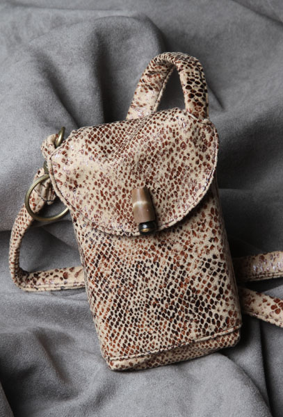 Snakeskin Print Cell Phone Purse #CP3402