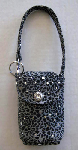 Gray Animal Print Cell Phone Purse #CP3109