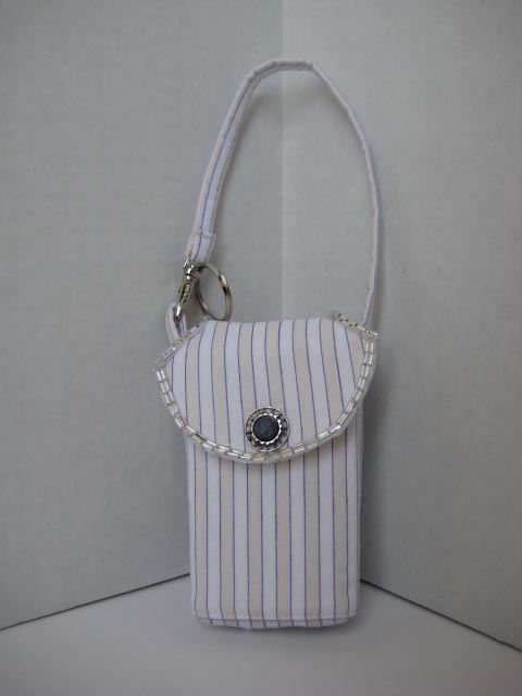 Purple Striped Cell Phone Purse CP4104