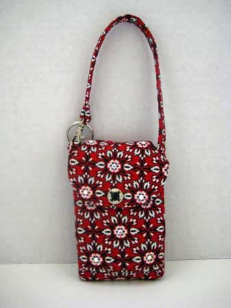 Red & Black Flower Cell Phone Purse #CP3106