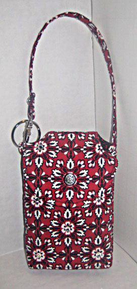 Red & Black Flower Cell Phone Purse CP3106