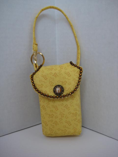 Yellow Confetti Cell Phone Purse CP4105
