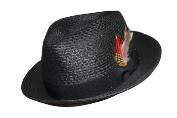 Porkpie Straw Hat Small Brim #PPS
