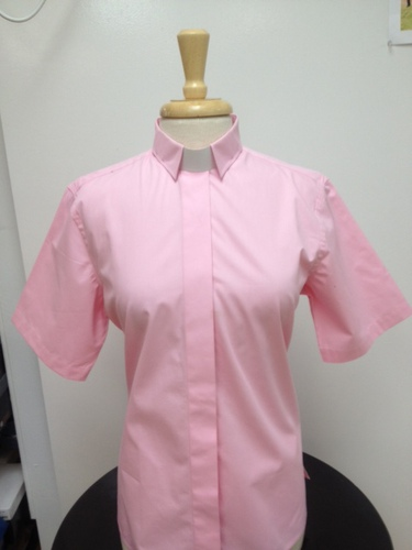 Tab Collar Short Sleeve Lady Clergy Shirt TCLCS