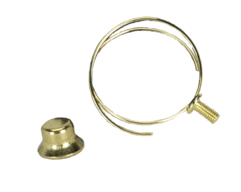 0030 Brass Plated Clip With Finial #0030