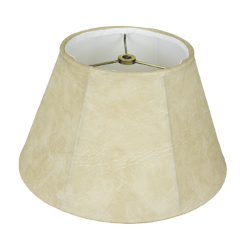 4127 Faux Leather Swing Arm Shade With White Lining #4127