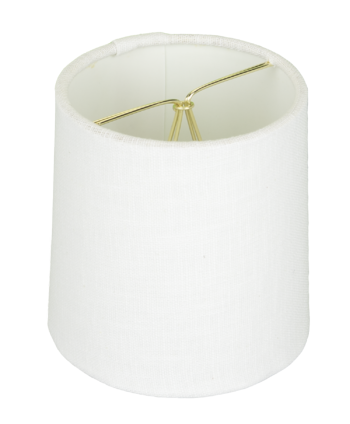 5118 White Linen Drum Chandelier Rolled Edge Hardback with Chrome Clip-on #5118