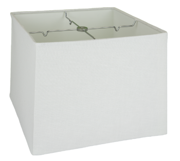 5135 White Linen Box Square Rolled Edge Hardback with Chrome Spider  #5135