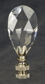 0202 Clear Fine Glass Finials 0202