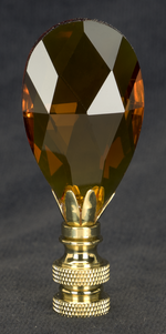 0203 Amber Fine Glass Finials 0203