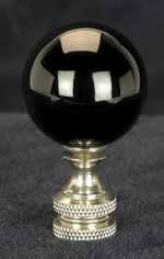 0216 Black Fine Glass Ball Finials 0216
