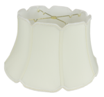 110 Shantung V Notch Floor Lamp Shade with Piping 110