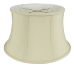 116 Shantung Bell Floor Lamp Shade with Piping 116