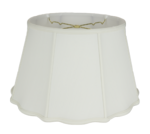 121 Shantung Fancy Empire Floor Lampshade With Piping 121
