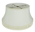 162 Shantung Bell Floor Lampshade With Smock Pleat & Gallery 162