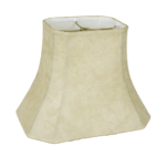 4112 Faux Leather Rectangle Cut Corner With White Lining 4112