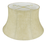 4116 Faux Leather Floor Lamp Shade with White Lining 4116