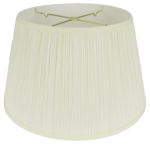 5016 Mushroom Pleated Floor Lamp Hardback 5016