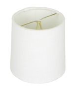 5118 White Linen Drum Chandelier Rolled Edge Hardback with Chrome Clip-on 5118