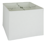 5135 White Linen Box Square Rolled Edge Hardback with Chrome Spider  5135
