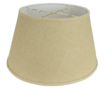 5216 Burlap Floor Lampshade Hardback with Trim 5216