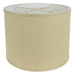 5232 Burlap Regular Hardback Drum with Trim 5232