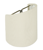 5454 Homespun Linen Roll Edged Shell Sconce Hardback 5454