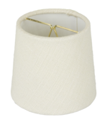 5958 Ivory Linen Mini Drum Hardback With Hand Rolled Edge 5958
