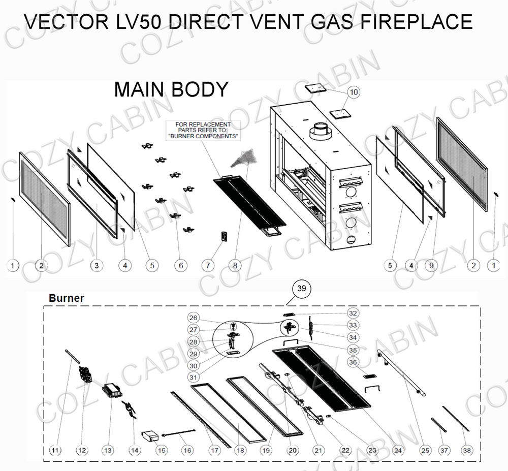 Vector direct vent gas fireplace lv50 lv50 napoleon parts vector direct vent gas fireplace lv50 asfbconference2016 Image collections