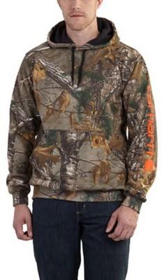 Carhartt Midweight Camo Sleeve Logo Hooded Sweatshirt #101763