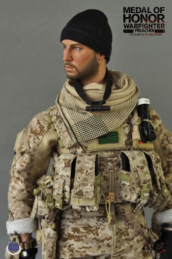 "CalTek Electonic Arts' 1/6 scale 12"" Medal of Honor Warfighter Preacher Figure 8017 #CAL-8017"
