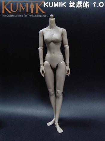 "Kumik 1/6 Scale 12"" Caucasian Female Base Body Action Figure KBF-003 #KBF-003"