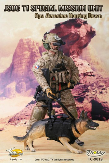 """Toys City 1/6 scale 12"""" JSOC T1 Special Mission Ops Geronimo Hunting Down 9019 #9019"""
