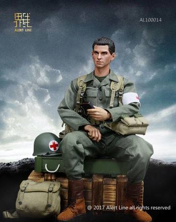 "Alert Line 1/6 Scale WWII US Army Medical Guard Set for 12"" Figure AL-100014 #AL100014"