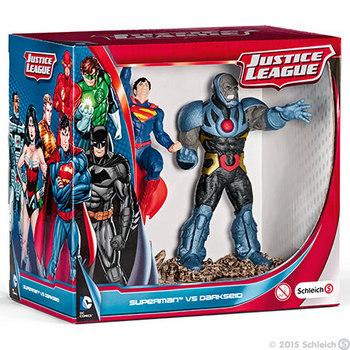 """DC Comics Schleich Justice League Superman Vs Darkseid 4.5"""" PVC 2 pack Figurines #4005086225091"""