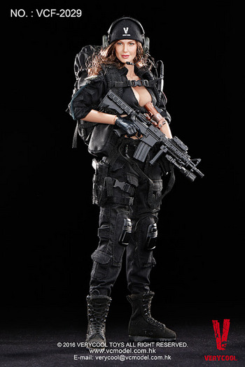 "Very Cool Toys 1/6 Scale 12"" Female Shooter Camo Ver. Action Figure VCF-2030 #VCF-2029"