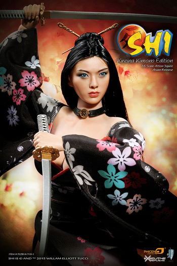 "Phicen 1/6 Scale 12"" SHI in Kimono Female Collector Action Figure Asia #PL2014-71B-2"