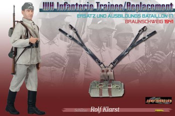 "Dragon Cyber Hobby 1/6 scale 12"" WWII German Soldier Schutze Rolf Klarst 70399 #70399"