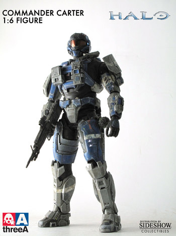 "Sideshow ThreeA 3A Toys Halo 1/6 Scale 13.5"" Commander Carter 901930 #901930"