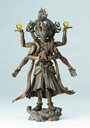 "Revoltech Takeya Takayuki 5"" Buddhist Statue Collection Ashura Wooden Figure 003 #4537807042101"